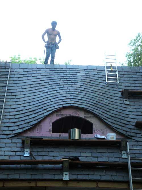 Slate Roof Central Message Board Eyebrow Dormer On A Slate Roof