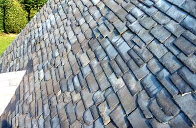 textured black slate roof