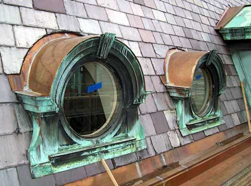 copper barrel dormer