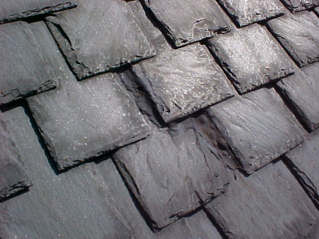 Slate roof in Richmond, typical spacing.