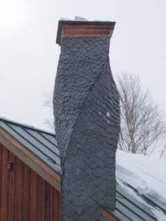 slate chimney