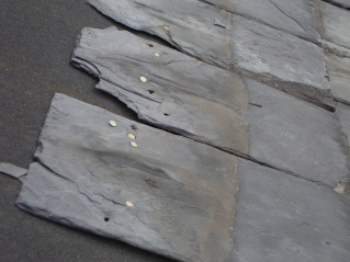 Incorrect slate roofing