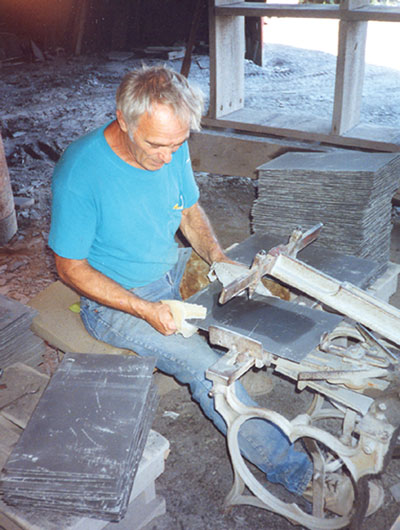 foot powered roof slate hole punch