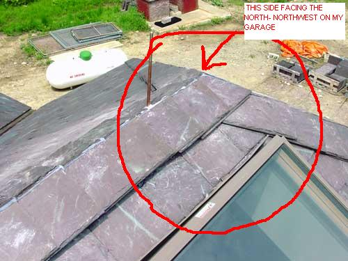 I started my hip roof saddle ridge on the North side of the garage and worked South.