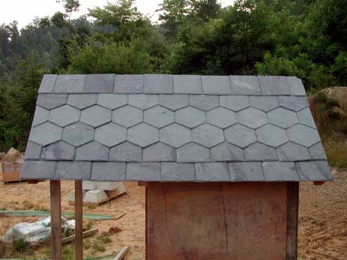 outhouse slate roof