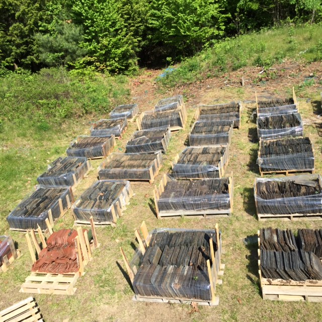 24 Pallets of unused roofing slates