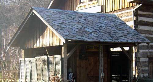 random slate roof